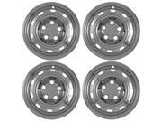 "Set of 4 Chrome 17"" Hub Cap Wheel Skins: Dodge Ram 1500 ST 17x7 Inch 5 Lug Steel Rim -aftermarket: IMP/61X"