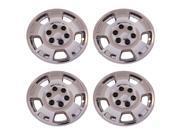 "4 New Chrome 5 Spoke 17"" Wheel Skin hub caps for 2007 - 2013 Chevy Avalanche, Silverado, Suburban & Tahoe -IMP347X"