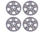 "New Set of 4 Chrome 16"" Wheel Skin Hub Caps for 2012 - 2013 Honda CRV 5 Spoke Steel Rim"