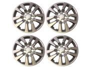 """New Set of 16"""" inch Silver 2013 - 2014 Nissan Altima Screw on Hub Cap Wheel Covers 472-16S"""