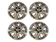 "Set of 18"" inch Chevy Impala Silver Lug Screw on Retention Hub Cap Wheel Covers 472-18S"