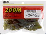 Zoom Soft Plastic Bass Fishing Bait 022-054 Super Salt+ Brush Hog Watermelon Red