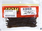 Zoom Bass Fishing Bait 004-202 Super Salt+ Finesse Worm 20 PK Green Pumpkin Red