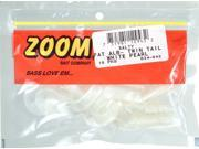 Zoom Soft Plastic Bass Fishing Bait 034-045 Fat Albert Twin Tail White Pearl