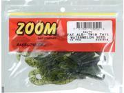 Zoom Soft Plastic Bass Fishing Bait 034-019 Fat Albert Twin Tail Watermelon Seed
