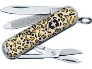 "Victorinox VNVN56222 Knives Folder Knife Classic Sd Leopard 2 1/4"" Closed Compos"