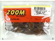 Zoom Soft Plastic Bass Fishing Bait 022-013 Super Salt+ Brush Hog Pumpkin