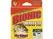 Apex BW350-6-GC Fishing Monofilament Bionic Walleye Line 6 Lb.