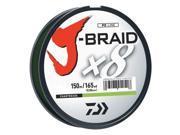 Daiwa JB8U50-150CH J-Braid Braided Line 50lbs 165Yds Filler Spool Chartreuse