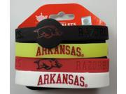 NCAA CCPBC-283-40 Arkansas Silicone/Rubber Bracelets Pack Of 4 9SIA2EA4RA7870