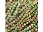 UNAKITE 6MM ROUND GEMSTONE BEADS AA++ GREEN RED