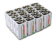 Combo 20pcs Tenergy Centura NiMH 9V 200mAh Low Self Discharge Rechargeable Batteries