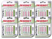 Tenergy Centura NiMH AAA 800mAh Low Self Discharge Rechargeable Batteries (6 Cards, 24 Pcs)