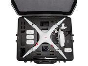 DJI Phantom 2 Vision Plus Hard Case. Military Spec., Waterproof and Airtight, Carrying Case with Foam for DJI Quadcopter and GoPro Accessories