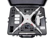DJI Phantom 2 Carrying Case. Military Spec Waterproof and Airtight Hard Case Fits Quadcopter and GoPro Accessories. (Phantom 2 Vision Plus)
