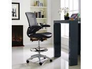 Attainment Vinyl Drafting Stool in Black