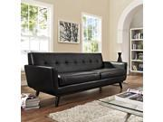 Engage Bonded Leather Sofa in Black
