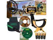 "Garrett ACE 250 Metal Detector W/Powerful 6.5"" x 9"" PROformance Submersible Searchcoil, Treasure Pouch & Digger, Training DVD Plus Bonus CD"