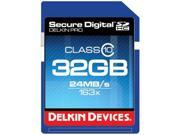 Delkin Devices DDSDPRO3-32GB - 32GB Class 10 SDHC Memory Card