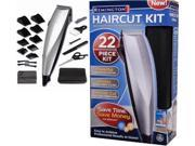 Remington HC-8017B Precision 22 Piece Corded Haircut Kit Clipper Pro Results New