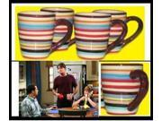 TWO AND A HALF MEN Charlie Sheen cups MUGS COFFEE SET 4