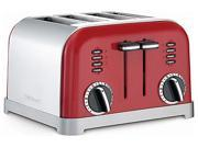 Cuisinart CPT-180MR Stainless Steel Metallic Red Metal Classic 4-Slice Toaster