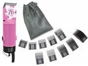 Oster Classic 76 Pink Flower Limited Edition Hair Clipper + 10 PC Comb Set 9SIA2GB48D3690