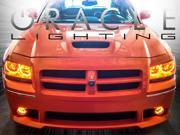 Oracle 08 Dodge Magnum LED Amber-White Halo Rings Headlights Bulbs