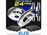 Brake Rotors *FULL KIT ELINE DRILLED SLOTTED & PADS -Pontiac GTO 2005 - 2006