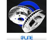 "[2 REAR] ELINE ""DRILLED AND SLOTTED"" PERFORMANCE DISC BRAKE ROTORS RU03032"