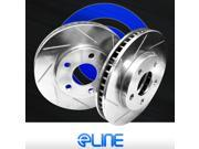 "Brake Rotors *2 REAR ELINE ""DIAMOND SLOTTED"" PERFORMANCE DISC RV08083"