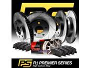 Brake Rotors *F+R KitPREMIER-SERIES HIGH CARBON:DIAMOND SLOT +CERAMIC PADS R1054