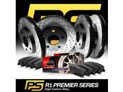 Brake Rotors *F+R KitPREMIER-SERIES HIGH CARBON:CROSS DRILLED S+CERAMIC PAD R123