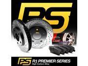 Brake Rotors REAR KIT PREMIER-SERIES HIGH CARBON: CROSS DRILL S+CERAMIC PAD R204 9SIA2GG2NV4547