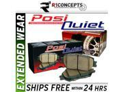 [FRONT+REAR SET] POSI-QUIET EXTENDED WEAR Disc Brake Pads [106.08720, 106.07790]