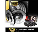 2007 2008 2009 2010 Mini Cooper Front Premier Drilled Brake Disc Rotors & Ceramic Pads 9SIA2GG52N9516