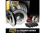 2007 2008 2009 2010 Mini Cooper Front Premier Drilled Slotted Brake Rotors & Ceramic Pads 9SIA2GG5025135