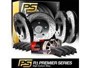 Full Kit Premier Cross-Drilled Brake Rotors & Ceramic Pads Chrysler PT Cruiser 9SIA2GG52N7303