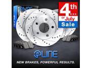 Brake Rotors *FULL KIT ELINE DRILLED SLOTTED & PADS-Chevrolet CAMARO 2010 V8 SS