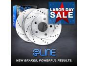 Brake Rotors FRONT ELINE DRILLED SLOTTED -BMW X3 2004  -2011 9SIA2GG2NN4122