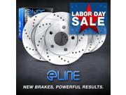 Brake Rotors FRONT+REAR ELINE DRILLED SLOTTED  -Lexus LS400 1995 - 2000 9SIA2GG2NT9167