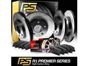 2004 2005 Chrysler PT Cruiser Full Kit Premier Plain Brake Rotors & Ceramic Pads 9SIA2GG52P0127