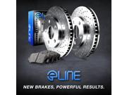 FRONT eLine Cross-Drilled Brake Rotors & Heavy Duty Brake Pads FEX.35127.04 9SIA2GG5038251