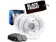 2004 2005 2006 2007 2008 2009 2010 BMW X3 Front eLine Drilled Brake Disc Rotors & Ceramic Brake Pads 9SIA2GG5018563