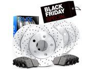 2005 2006 2007 2008 2009 2010 Honda Odyssey Full Kit eLine Drilled Brake Disc Rotors & Ceramic Pads 9SIA2GG4ZY5497