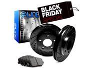 2001 2002 2003 2004 2005 2006 2007 Toyota Sequoia Rear Black Drilled Slotted Brake Rotors & Ceramic Pads 9SIA2GG5036310