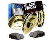 2002 2003 2004 2005 2006 Acura RSX Full Kit Gold Drilled Slotted Brake Rotors & Ceramic Pads 9SIA2GG5040533