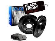 2000 2001 2002 2003 2004 2005 Toyota Celica Rear Black Drilled Brake Disc Rotors & Ceramic Brake Pad 9SIA2GG5032333