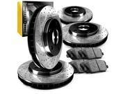 Brake Rotors F+R Kit PREMIER-SERIES HIGH CARBON:DRILLED SLOTS+CERAMIC PAD R324 9SIV13S6UB4404