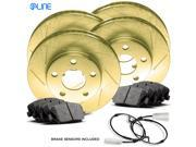 [COMPLETE KIT] Gold Slotted Brake Rotors & Ceramic Brake Pads CGS.2001202